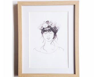 Flor • Art Print   Fashion Illustration