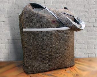 Tweed Hand Bag Tote Bag