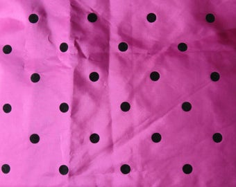 Pink Polka-dot Taffeta Vintage Fabric ( 207cm x 111cm wide) Ideal for 1950s Style Skirt