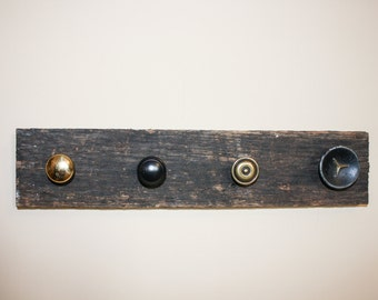 Rescued knob jewelry hanger