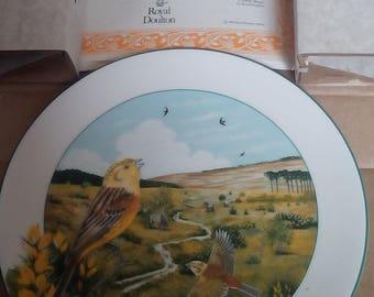 Royal Doulton The Heathland Yellowhammer plate