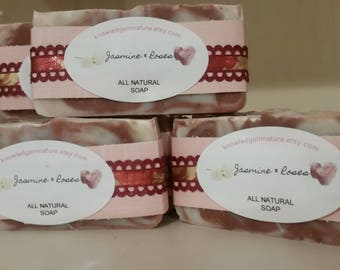 Jasmine & Roses All Natural Fragrant soap