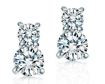 Keira Solitaire Earrings made with Swarovski Crystals