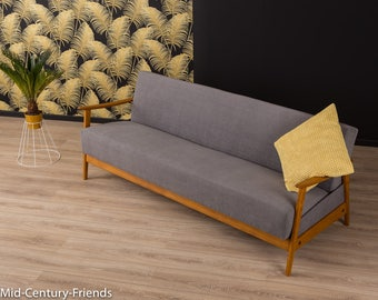 60s sofa, couch, 50s, vintage, gray (601029)