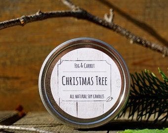 4 oz Scented Soy Candle in a Round Tin