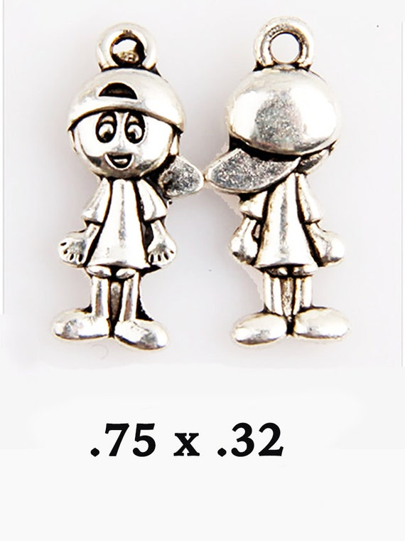 BASEBALL KID  Charms, 4 pcs  +Discounts & FREE Shipping*