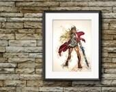 She-Ra Princess of Power, Watercolor Art, Masters of the Universe, Little Girl's Room, Modern Watercolor Art, Splatter Art Print, Giclee Art