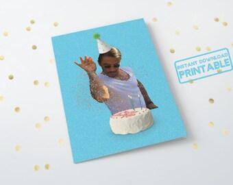 Salt Bae Printable Birthday Day Card - Funny Meme Card - Saltbae