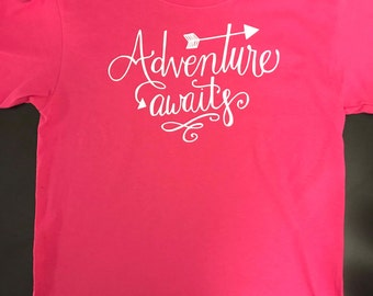 Adventure Awaits inspired, Girl Scout Mom Shirt, Girl Scout Dad Shirt, Girl Scout Parent Shirts, Girl Scout Shirt, Girl Scout Adventure