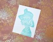Audrey Hepburn Letterpress Greeting Card