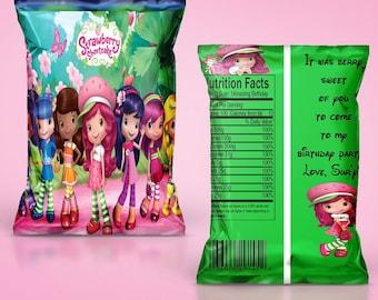 Strawberry shortcake chip bag/treat bag(set of 15)