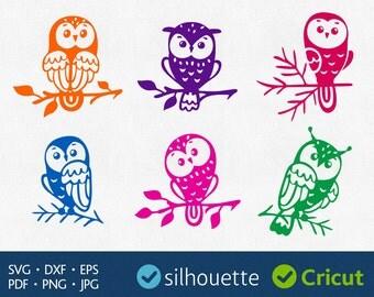 Owl Svg Cut Files Cricut downloads Svg Owl image Dxf Silhouette Studio file Vinyl design Svg digital designs cuttable Owl clipart decal file