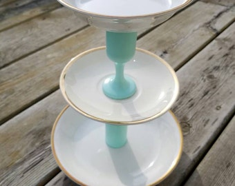 Tiered Jewelry Dish Stand