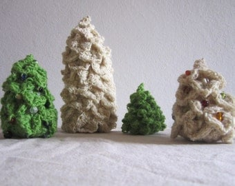 Wool Christmas tree Rosset and glass beads