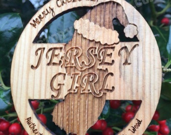 Jersey Girl Boardwalk Wood Ornament