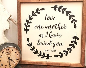 Christian Wall Art, Christian Scripture Sign, Farmhouse Décor, Wood Sign, Wood Christian Sign, Rustic Wood Sign, Wedding Gifts,