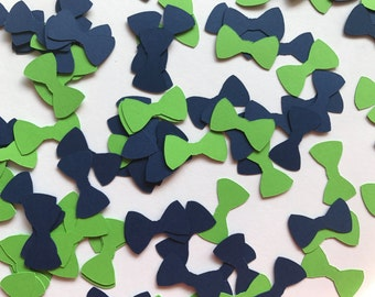 Green And Blue Bow Tie Confetti   Little Man Birthday Party Decorations    Little Man Baby