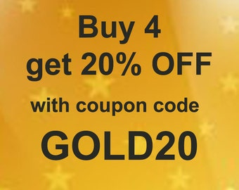 20% OFF coupon code to use for with your order