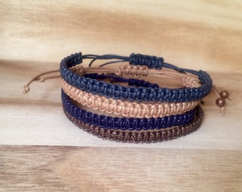 Mens/ladies macrame bracelet, friendship bracelet, kabbalah bracelet, surf bracelet - made in uk