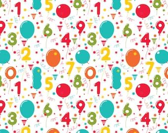 Birthday Balloons Wrapping Sheets