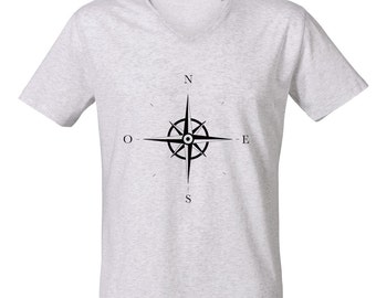 Wind Rose V-Neck T-shirt