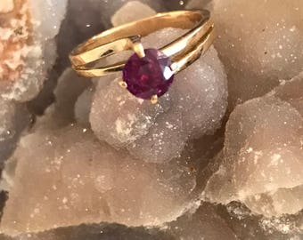 Ruby Solitare 14k Ring