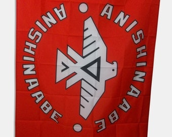Anishinaabe Thunderbird Flag 3 X 5 FT