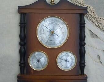 Vintage Barometer, Triple Barometer