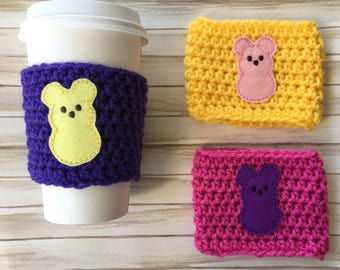 Peep Coffee Cozy/Mickey Peep Cozy/Easter Coffee Cozy/Easter Coffee Sleeve