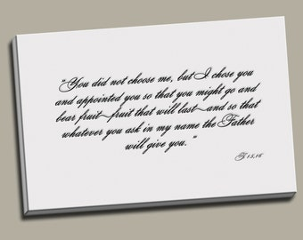 Bible Verse Canvas Caligraphy Canvas Caligraphy Print