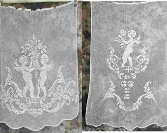Royal Antique Handmade Needlework Curtains