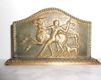 Max Le Verrier Art Deco  bronze cards holder