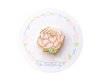 Flower Gold Enamel Pin