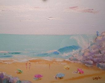 Down Under Beach - Original Oil Painting - 1 of 2