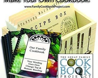 Family Cookbook Project Software - Create Personalized Recipe Book with Photos  - Quick, Convenient and Easy to Use - USA-Based Tech Support