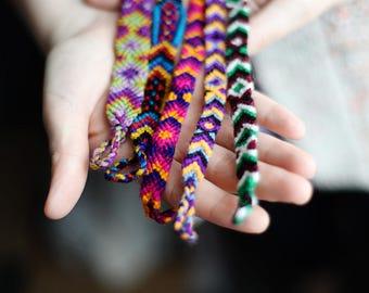 Mexican Friendship Bracelets Woven Bracelets Gifts for Her Bohemian Jewelry Beach Jewelry Arm Party Hippie Bohemian Chic Boho