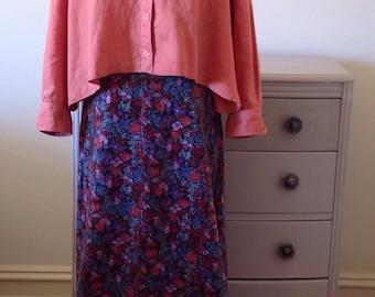 70s boho velvet floral maxi skirt Wraggs ByPlaytogs. Size 10 winter palette