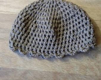 Child winter hat, brown