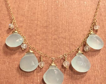Chalcedony and Moonstone necklace