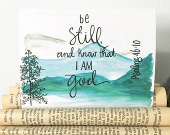Be Still - Psalms 46:10 Note Card