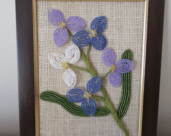 French Beaded Flower Frame