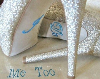 Wedding Shoe Rhinestone Stickers ***New*** ***USA Seller*** I Do Me Too