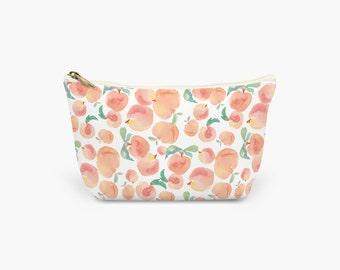 Peaches Make Up Bag.  Wash Bag. Cosmetics Bag. Toiletries Bag. Large, Medium and Small available.