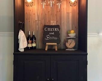 Dry bar / liquor cabinet