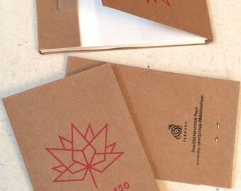 Match Box Note Pad, Handmade Paper, Set of 3 CAD 8