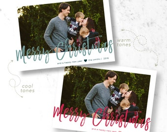 Simple Christmas Holiday Photo Cards