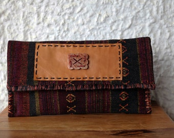 Ethnic Clutch Bag/Boho Handwoven Clutch/Tribal Large Clutch Bag/Thai Clutch Bag/Oversized Clutch/Aztec Bag