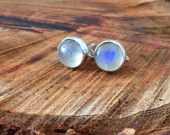 Labradorite stud earrings, silver Labradorite stud earrings, Labradorite, stud, earrings, pretty stud earrings, gift for her, gift for wife