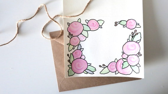 Floral Card TemplateCustom Lettering Card Friendship Card – Friendship Card Template