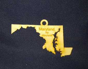 Maryland my Maryland state ornament